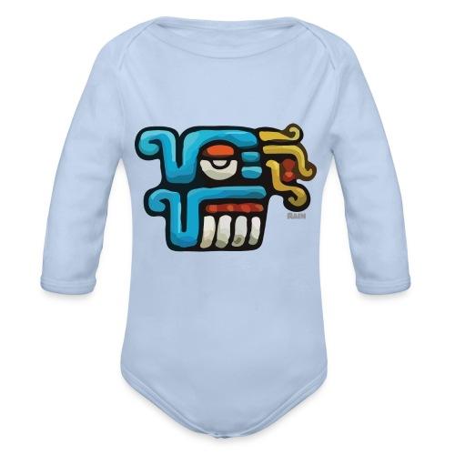 Aztec Icon Rain - Organic Longsleeve Baby Bodysuit