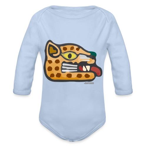 Aztec Icon Jaguar - Organic Longsleeve Baby Bodysuit