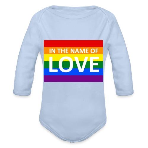 IN THE NAME OF LOVE - Langærmet babybody, økologisk bomuld