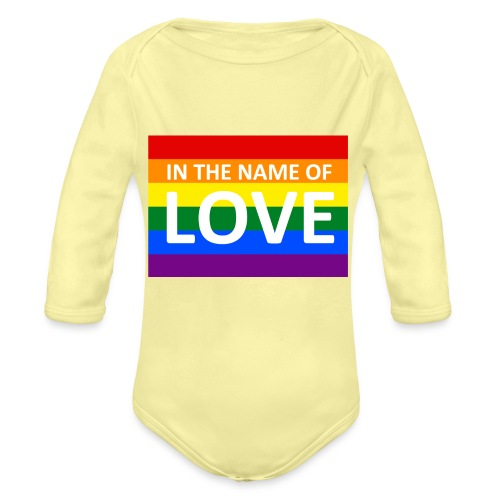 IN THE NAME OF LOVE CAP - Langærmet babybody, økologisk bomuld