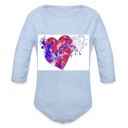 Cuore sognante.. - Body ecologico per neonato a manica lunga