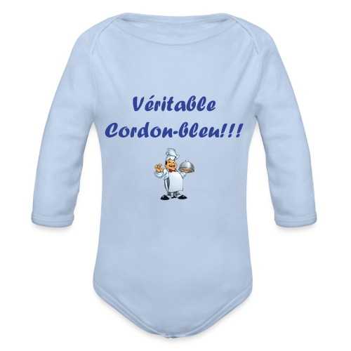Cordon-bleu - Body Bébé bio manches longues