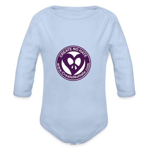 CreateNoHate Logo - Organic Longsleeve Baby Bodysuit