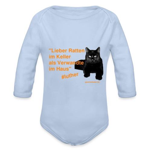 Luther-Zitat - Baby Bio-Langarm-Body