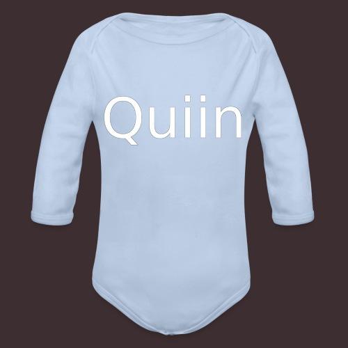 White_Quiin_outline - Baby Bio-Langarm-Body