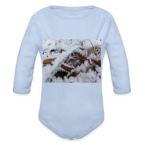 Schneekristalle - Baby Bio-Langarm-Body