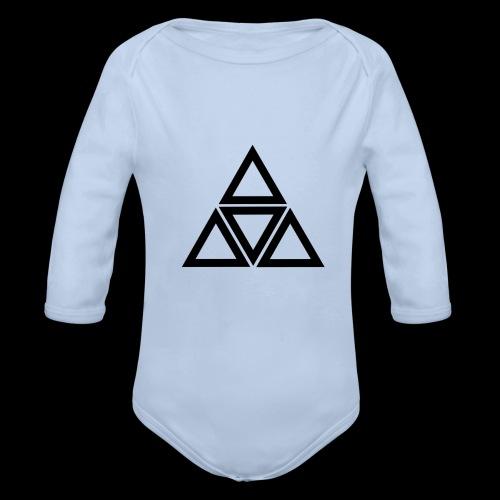triangle - Body ecologico per neonato a manica lunga