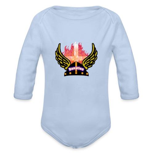 Danation - Langærmet babybody, økologisk bomuld