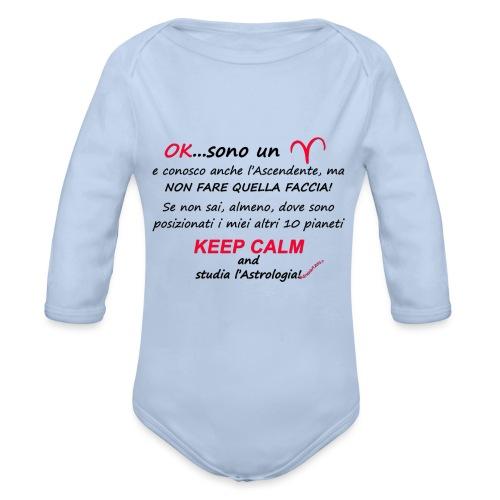 ARIETE - Body ecologico per neonato a manica lunga