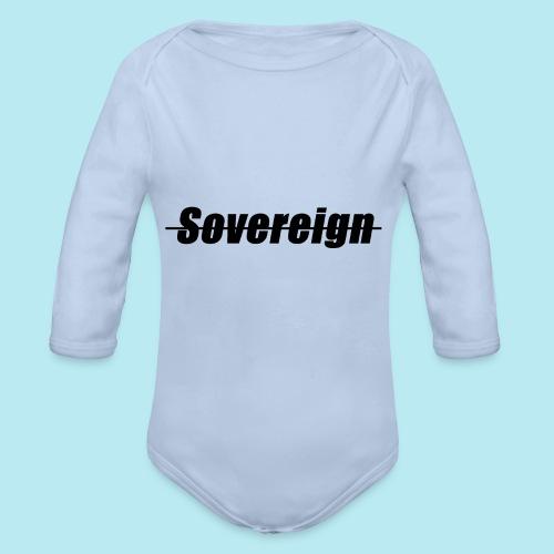 Sovereign Dash Black - Organic Longsleeve Baby Bodysuit