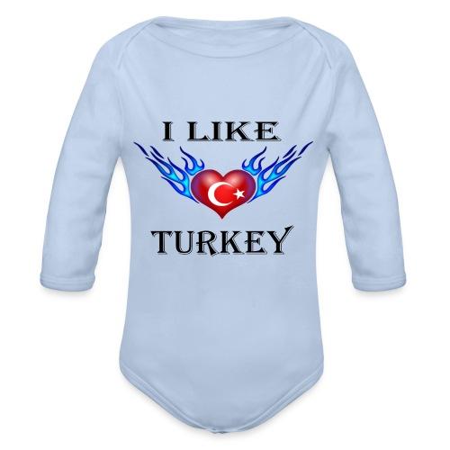 I Like Turkey - Baby Bio-Langarm-Body