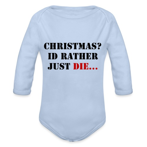 Christmas joy - Organic Longsleeve Baby Bodysuit