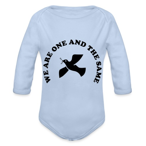 We are one and the same - Organic Longsleeve Baby Bodysuit