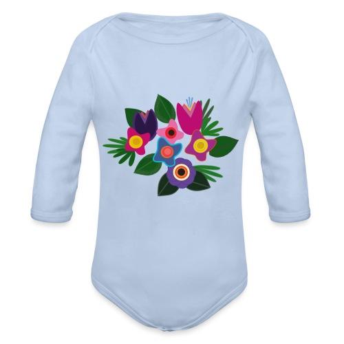 Flowers - Baby Bio-Langarm-Body