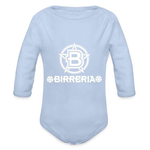 Logo Birreria 2021 white - Baby Bio-Langarm-Body