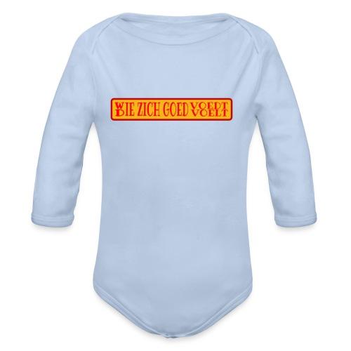wie en die png - Organic Longsleeve Baby Bodysuit