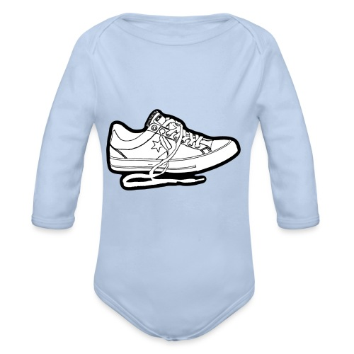 Sneaker - Ekologisk långärmad babybody
