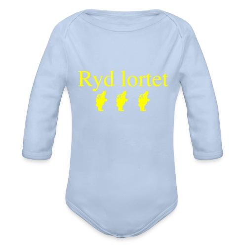 Ryd lortet - Børnekollektion - Langærmet babybody, økologisk bomuld