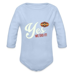 YES-we did it_white - Baby Bio-Langarm-Body