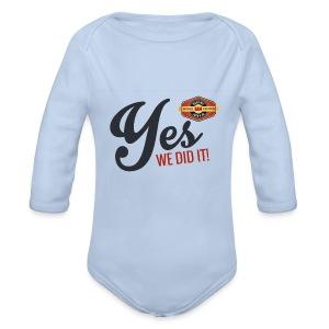 YES-we did it_black - Baby Bio-Langarm-Body