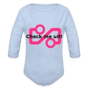 Check me Uit! - Organic Longsleeve Baby Bodysuit