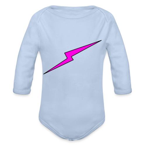 powerkid logo - Baby bio-rompertje met lange mouwen