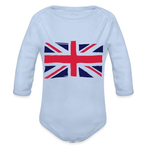 vlag engeland - Baby bio-rompertje met lange mouwen