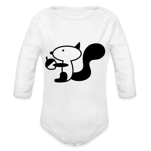 squirrelbw - Baby bio-rompertje met lange mouwen