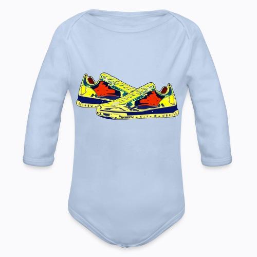 sneakers - Organic Longsleeve Baby Bodysuit