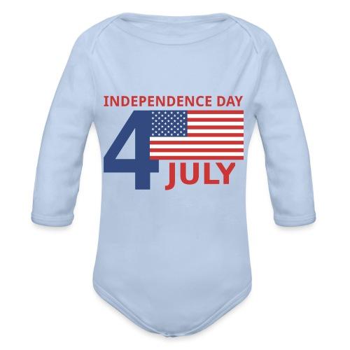 4 luglio giorno della indipendenza - Body ecologico per neonato a manica lunga