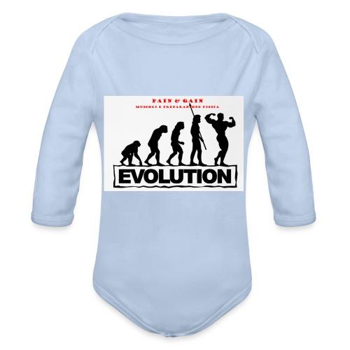 Maglia Pain e Gain - Body ecologico per neonato a manica lunga