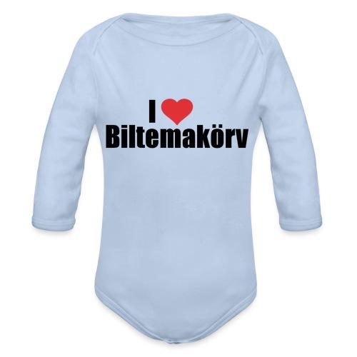 I Love Biltemakörv - Ekologisk långärmad babybody