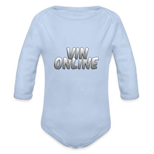 VinOnline - Baby bio-rompertje met lange mouwen