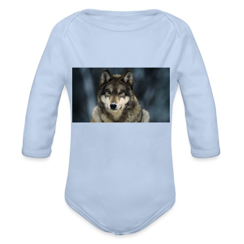 wolf shirt kids - Baby bio-rompertje met lange mouwen