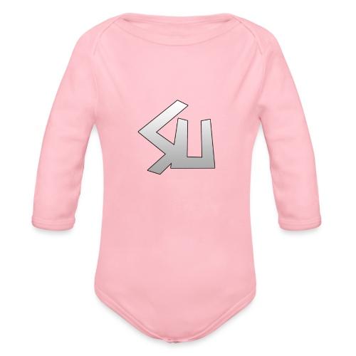 Plain SU logo - Organic Longsleeve Baby Bodysuit