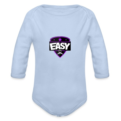 Team EasyFive snäpäri - Vauvan pitkähihainen luomu-body