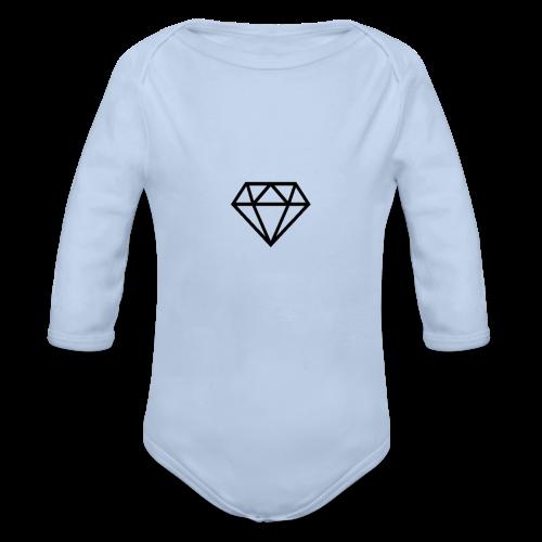 black diamond logo - Organic Longsleeve Baby Bodysuit