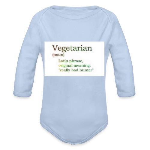 funny-vegetarian - Organic Longsleeve Baby Bodysuit