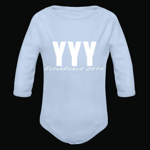 'Snapback Edition' YYY Apparel Design - Organic Longsleeve Baby Bodysuit