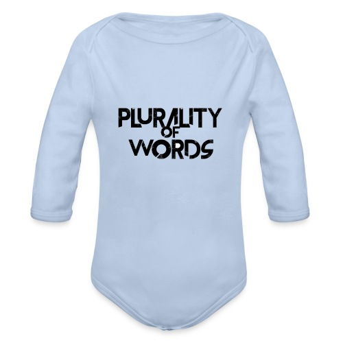 Plurality of Words Merchandise - Organic Longsleeve Baby Bodysuit