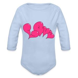 Love Bubble heart Style - Baby Bio-Langarm-Body