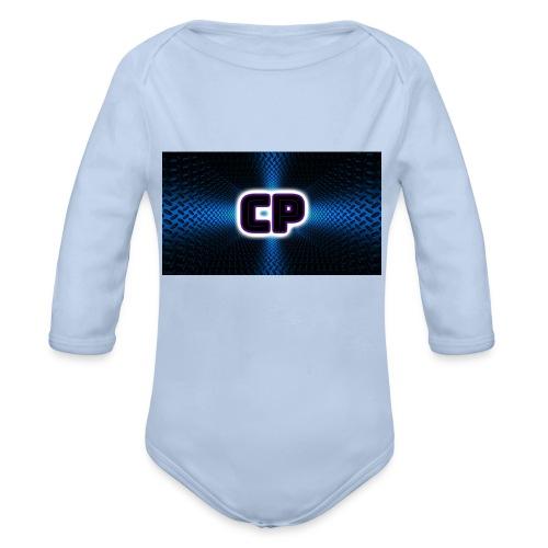 clup pingvin logo - Økologisk langermet baby-body