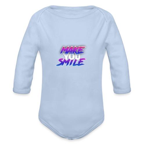 MAKE YOU SMILE - Organic Longsleeve Baby Bodysuit