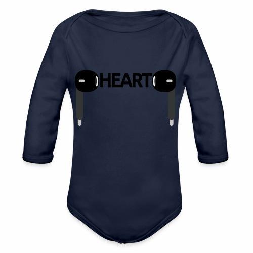 ListenToYourHeart - Ekologiczne body niemowlęce z długim rękawem