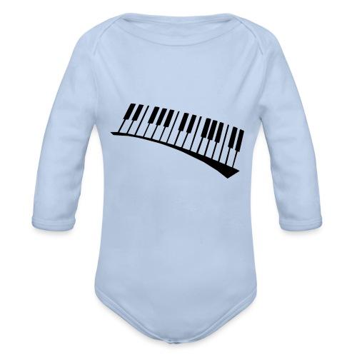Piano - Body orgánico de manga larga para bebé