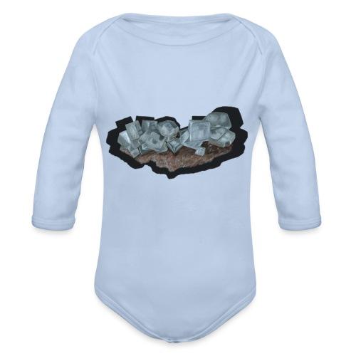Halit-Kristallstufe - Baby Bio-Langarm-Body
