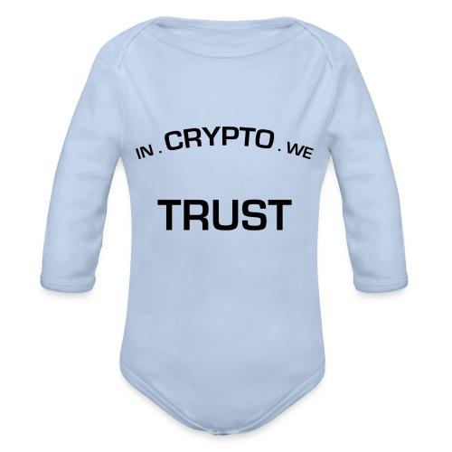 In Crypto we trust - Baby bio-rompertje met lange mouwen