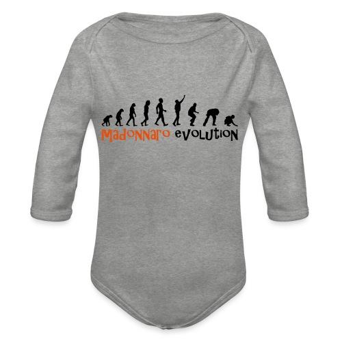 madonnaro evolution original - Organic Longsleeve Baby Bodysuit