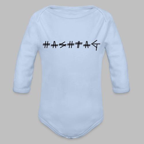 Hashtag - Organic Longsleeve Baby Bodysuit
