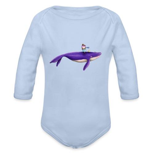 Mademoiselle KIki und der fliegende Wal - Baby Bio-Langarm-Body